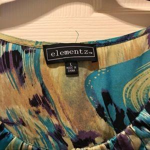 Elementz Tops - Elementz Abstract Print Tank Top, Size L